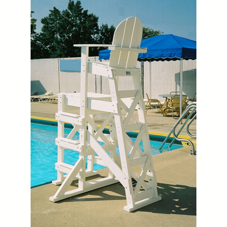 Tall Lifeguard Chair with Side Steps-Lifeguard Cha
