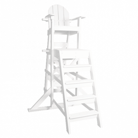 Tall Lifeguard Chair with Front Ladder-Lifeguard Chairs