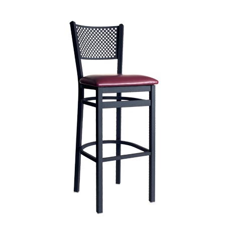 Polk Perforated Back Barstool-