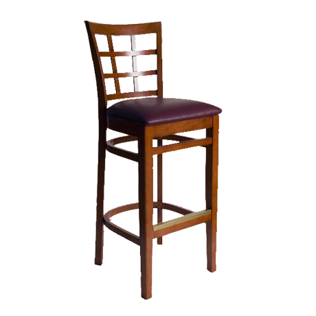 Pennington Window Pane Barstool-
