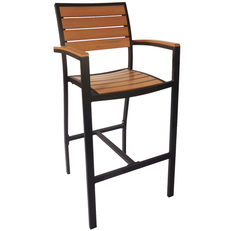 Largo Outdoor Arm Barstool