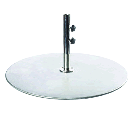 "Galvanized Steel Plate With 2"" Stem for Monaco Series"