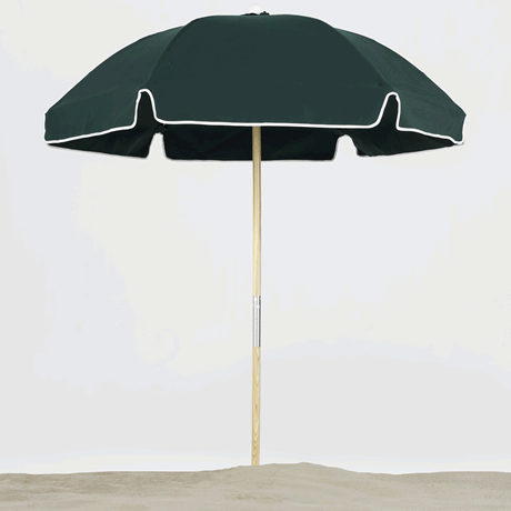 Avalon Collection 6.5' Hexagon Fiberglass Beach Umbrella with Ash Wood Pole
