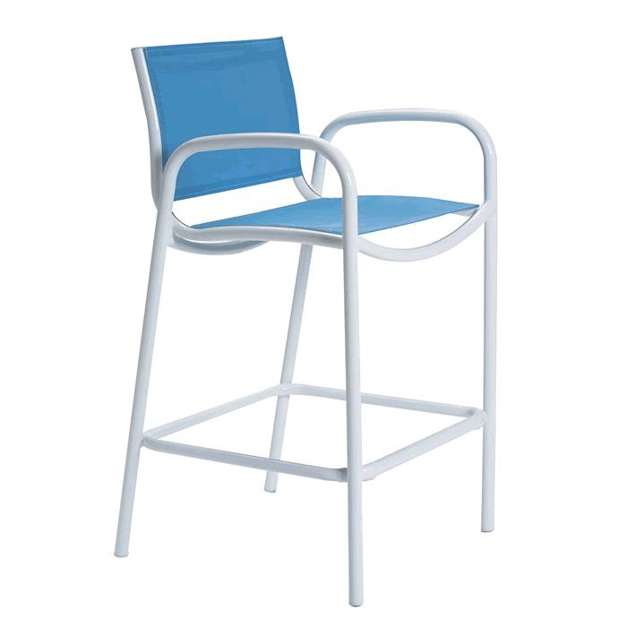 Millennia Relaxed Sling Stationary Bar Stool