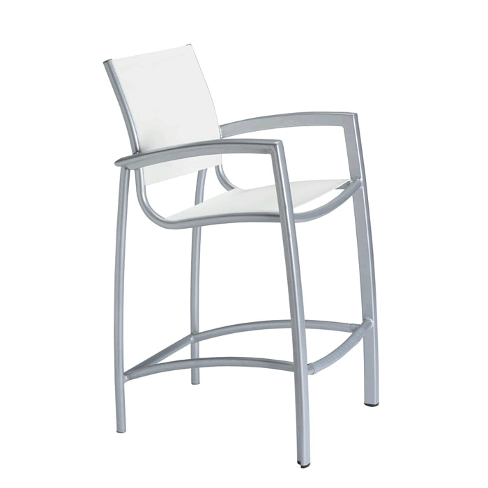 South Beach Relaxed Sling Stationary Bar Stool