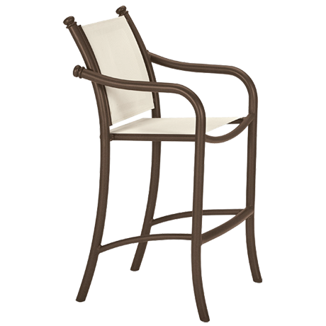 La Scala Relaxed Sling Stationary Bar Stool