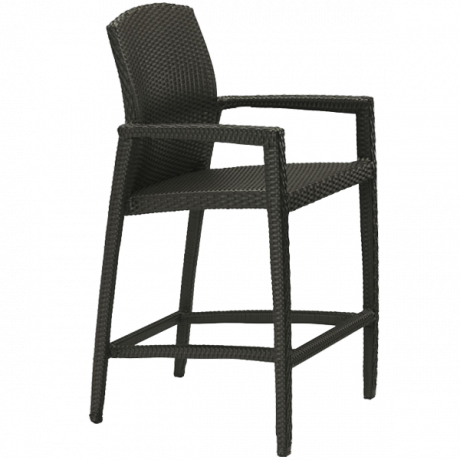 Evo Woven Stationary Bar Stool