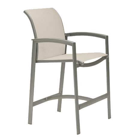 Elance Relaxed Sling Stationary Bar Stool