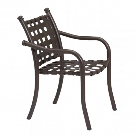 Tropitone La Scala Cross-Strap Dining Chair-Chairs and Glider Chairs