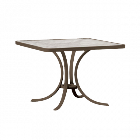 Tropitone 36 In. Square Dining Table With Acrylic Top Dining Tables