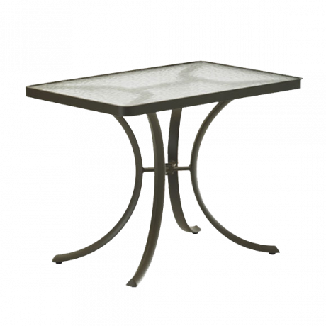 Tropitone 36 In. X 24 In. Rectangular Dining Table With Acrylic Top Dining