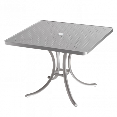 Tropitone 36 In. Square Boulevard Pattern Aluminum Umbrella Table-Dining Tables