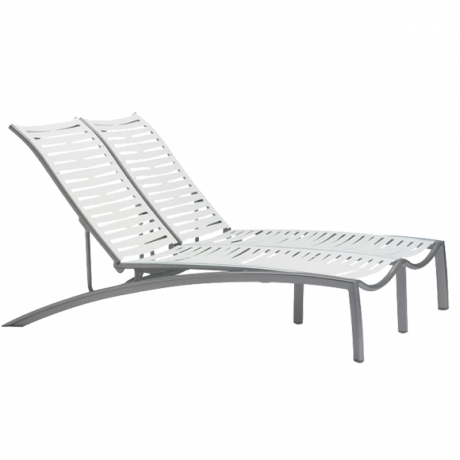Tropitone South Beach EZ Span Ribbon Segment Double Chaise Lounge Chairs