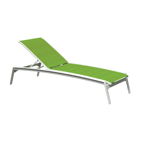 Elance Relaxed Sling Armless Chaise Lounge