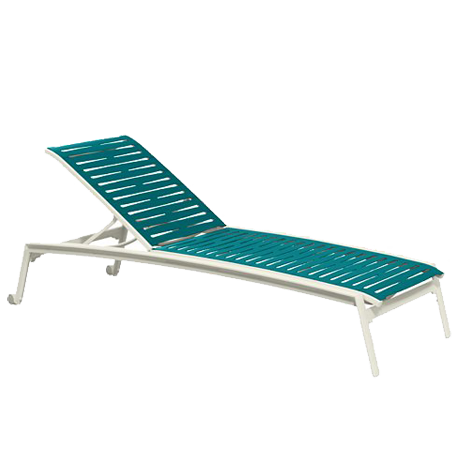 Elance Segment Armless Chaise Lounge with Wheels