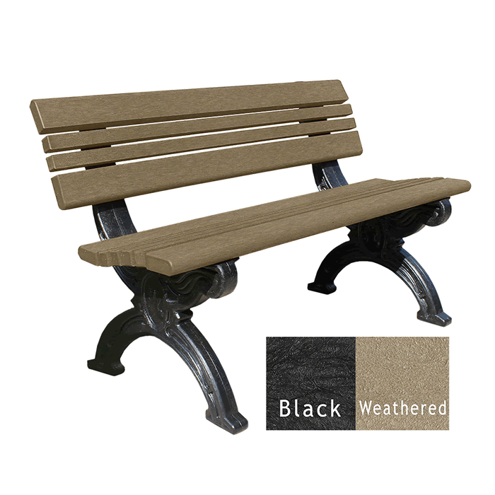 Cambridge Backed Bench without Arms