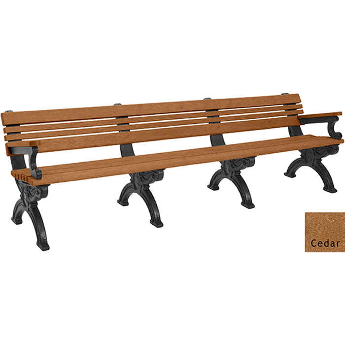 Cambridge Backed Bench with Arms