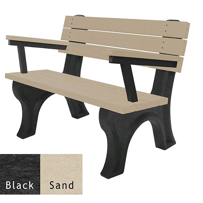 Deluxe Backed Bench with Arms