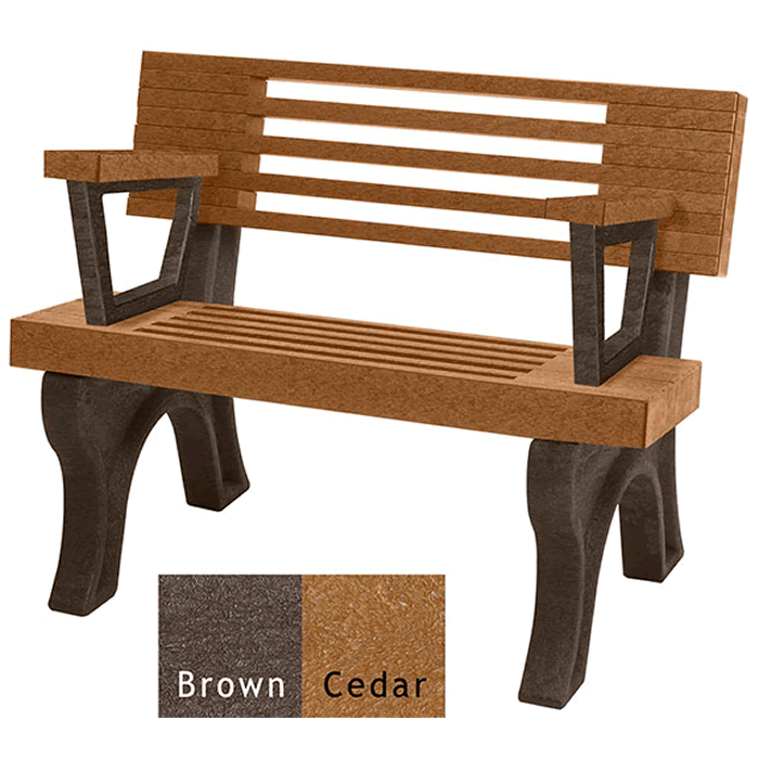 Elite Backed Bench with Arms