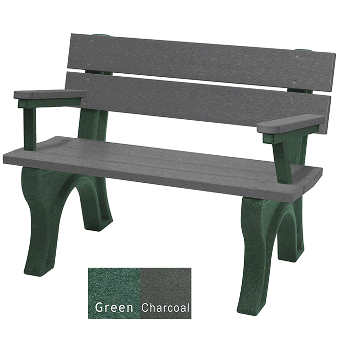 Economizer Traditional Backed Bench with Arms