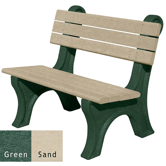 Park Classic Backed Bench without Arms