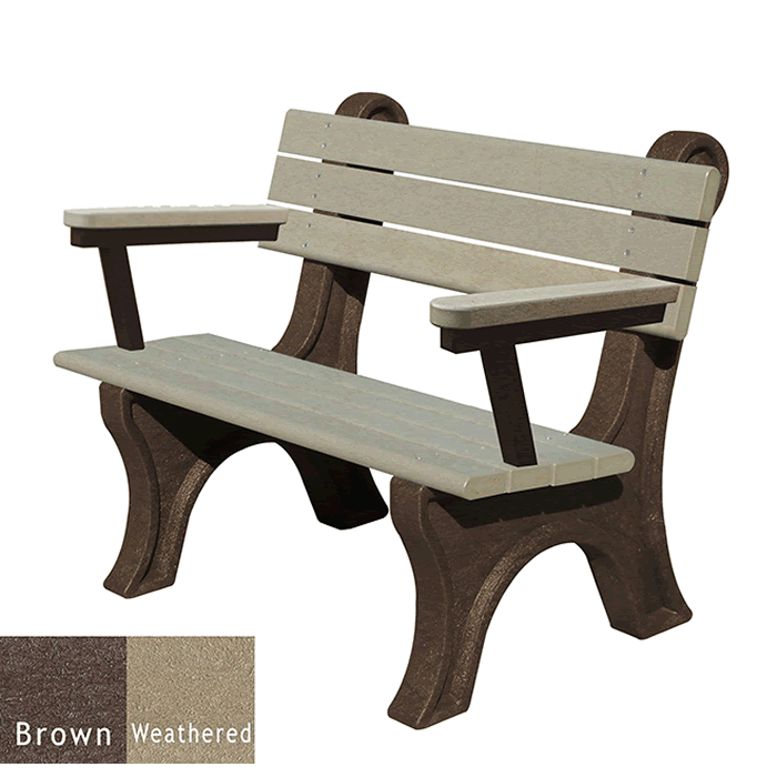 Park Classic Backed Bench with Arms