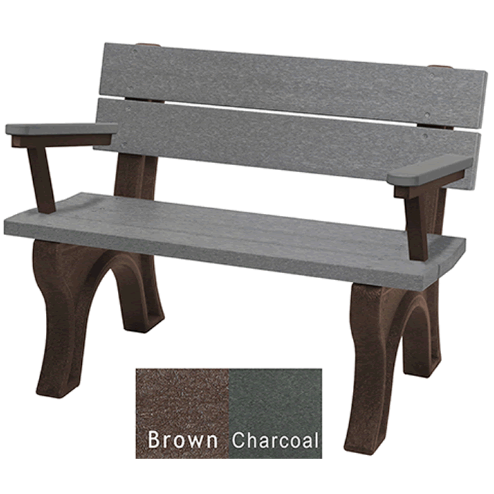 Traditional Backed Bench with Arms
