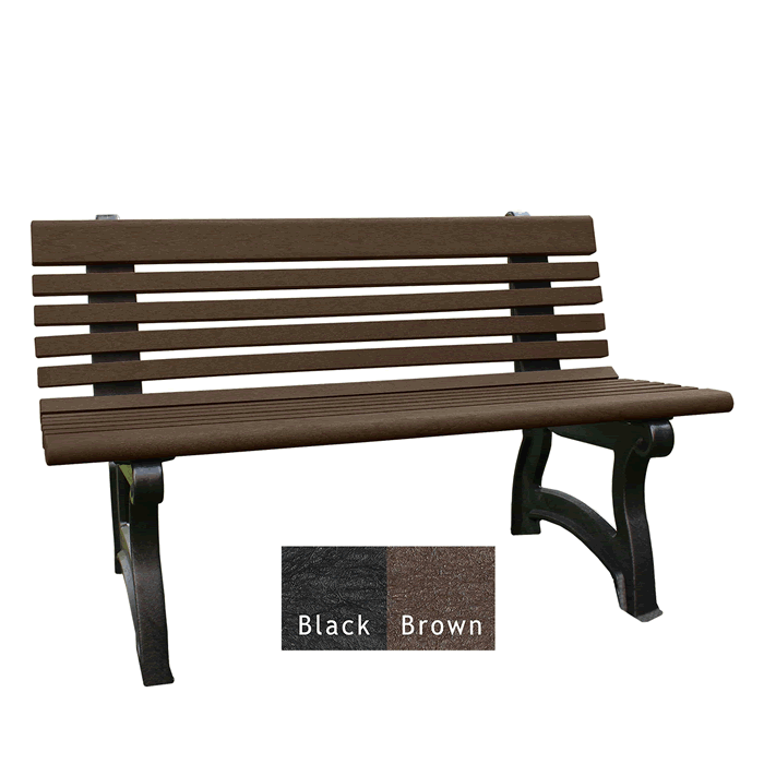 Willow Backed Bench without Arms