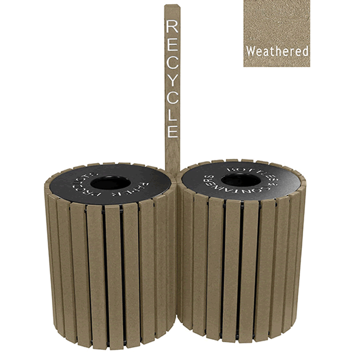 Double Unit High Capacity Recycle Receptacles