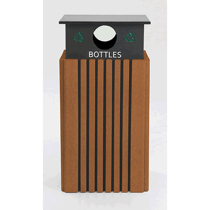 Tall Square Recycle Receptacle