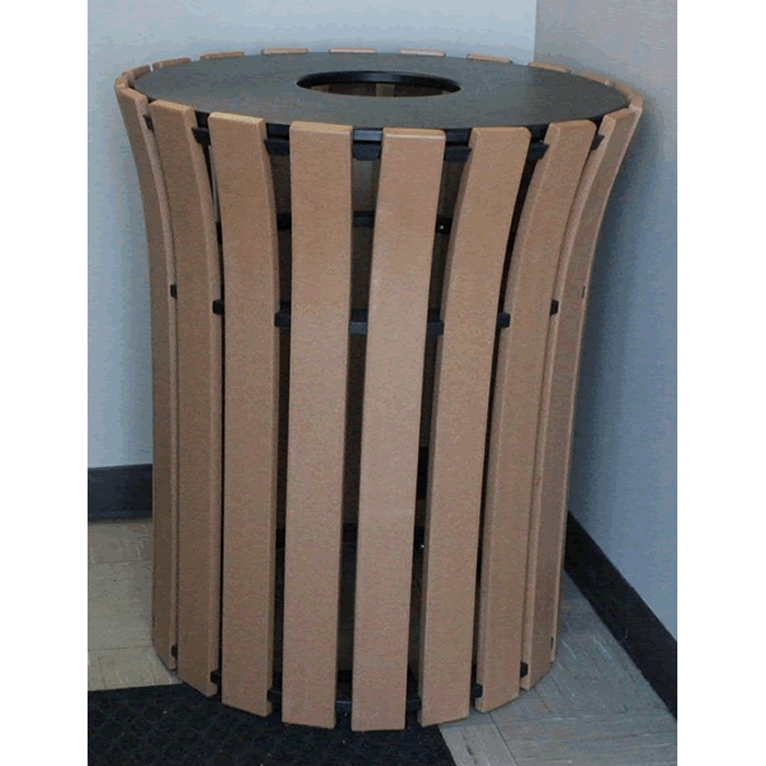 Round Flare Top Trash Receptacle