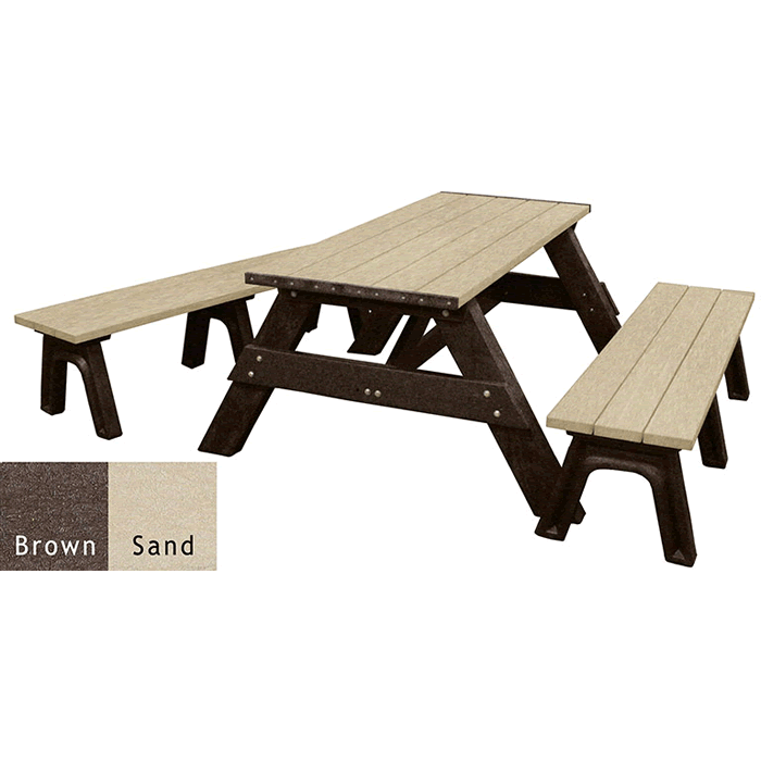 Deluxe Rectangle Picnic Table with Detached Seats