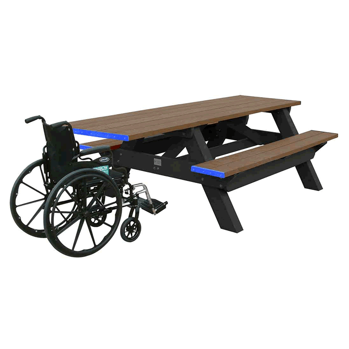 Deluxe Rectangle ADA Picnic Table